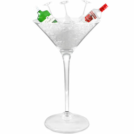 Giant Martini Glass Centerpiece 500oz 14ltr Display