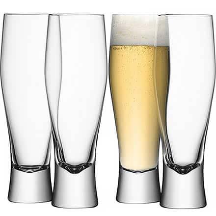 LSA Bar Lager Glasses 14oz / 400ml (Pack of 4)