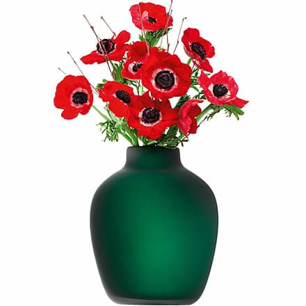 LSA Cashmere Vase Green Matte 20cm (Single)