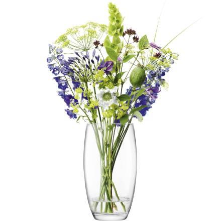 LSA FLOWER Glass Barrel Bouquet Vase 29cm (Single)