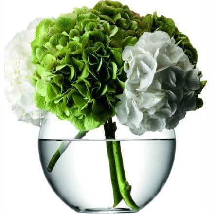 LSA FLOWER Round Bouquet Glass Vase 22cm (Single)