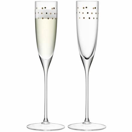 LSA Garbo Champagne Flutes Dots 5.25oz / 150ml