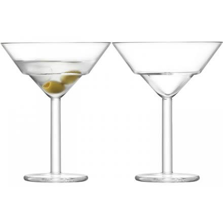 LSA MIXOLOGIST Cocktail Martini Glasses 8oz / 230ml (Set of 2)