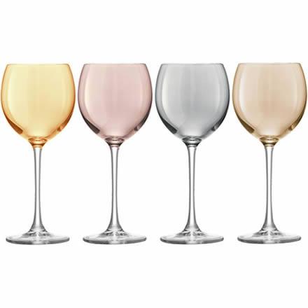 LSA POLKA Metallics Wine Glasses 14oz / 400ml (Pack of 4)