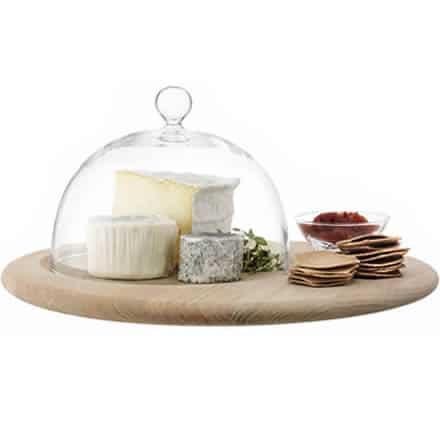 LSA SERVE Cheese Set & Oak Base 40cm (Single)