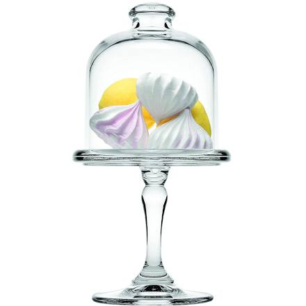 Pasabahce Mini Patisserie Glass Cake Stand and Dome 3.5 inch / 9cm (Single)