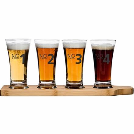 sagaform Beer Tasting Kit (Glasses & Paddle)