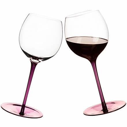 Rocking Wine Glasses Purple 19.4oz / 550ml (Pack of 2) Image