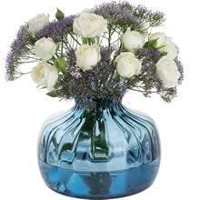 Dartington Crystal Medium Cushion Vase Ink Blue 14.5cm (Single) Image