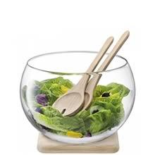 LSA SERVE Salad Set & Oak Base 27cm (Single) Image