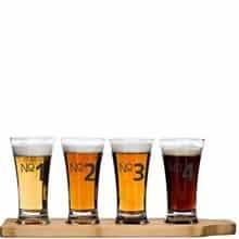 sagaform Beer Tasting Kit (Glasses & Paddle) Image